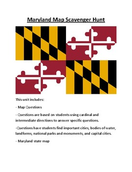 Maryland Map Scavenger Hunt