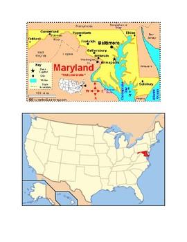 Maryland Map Scavenger Hunt