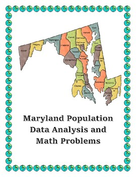 Maryland Data Analysis and Math Word Problems on the Population of Maryland