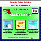 Maryland Puzzle BUNDLE - Word Search & Crossword Activities - US States - Google