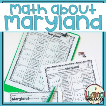 Math about Maryland State Symbols through Subtraction Practice