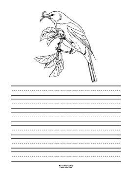 Maryland State Bird Notebooking Set (Baltimore Oriole)