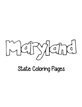 Maryland State Coloring Pages