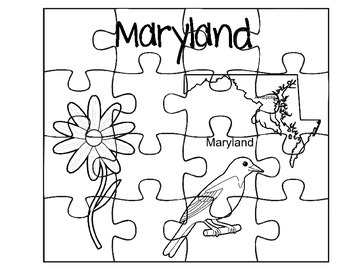 Maryland State Facts Puzzles