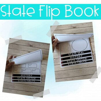Maryland State Study Activity Flip Book/ Note Taking Pages