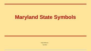 Maryland State Symbol Powerpoint By Kayla Melkovics Tpt