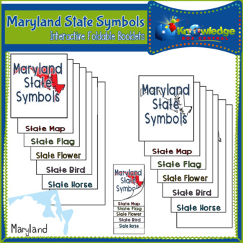 Maryland State Symbols Interactive Foldable Booklets