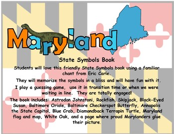 Maryland State Symbols Teacher and Student Book
