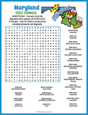 Maryland State Symbols Word Search Puzzle