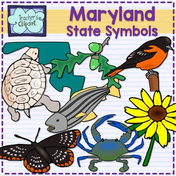 Maryland state symbols clipart