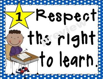 Mary's Custom Classroom Rules