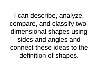Marzano 2-Dimensional Shapes Learning Scale