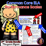 Marzano Aligned Common Core ELA Bundle Performance Scales 2nd Grade