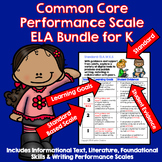 Marzano Aligned Common Core ELA Bundle Performance Scales Grade K