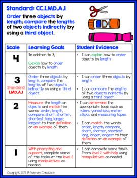 Marzano Aligned Common Core ELA & Math Bundle Performance Scales 1st Grade