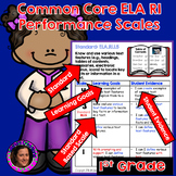 Marzano Aligned Common Core ELA RI Performance Scales 1st Grade