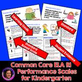 Marzano Aligned Common Core ELA RI Performance Scales Grade K