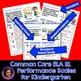 Marzano Aligned Common Core ELA Sampler Performance Scales Grade K