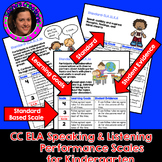 Marzano Aligned Common Core ELA Speaking & Listening Performance Scales Grade K