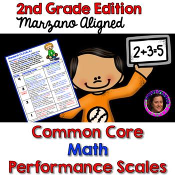 Marzano Aligned Common Core MATH Performance Scales 2nd Grade
