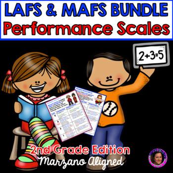 Marzano Aligned Florida LAFS & MAFS Bundle Performance Scales 2nd Grade