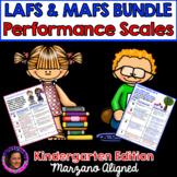 Marzano Aligned Florida LAFS & MAFS Bundle Performance Scales Grade K