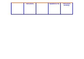 Marzano Assessment Chart