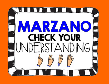 Marzano - Check Your Understanding Posters