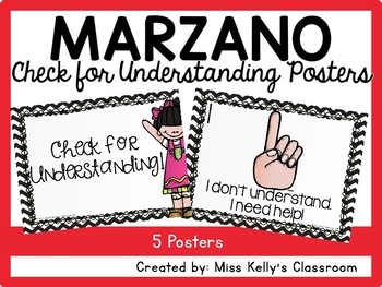 Marzano Check for Understanding Posters