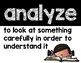 Marzano Cognitive Vocabulary Posters