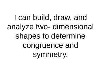 Marzano Congruent Shapes Learning Scale
