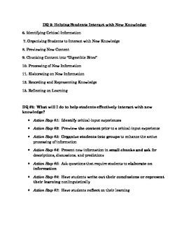 Marzano Design Question 2