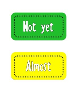 Marzano Exit Slip Folder Labels