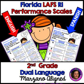 Marzano Florida LAFS RI Performance Scales 2nd Grade Dual Language Edition