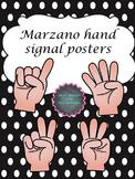 Marzano Hand signs