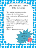 """ELA- Marzano """"I can"""" Statements and Essential Questions- 2nd grade Fl- Dots"""
