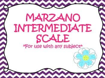 Marzano Intermediate Scale