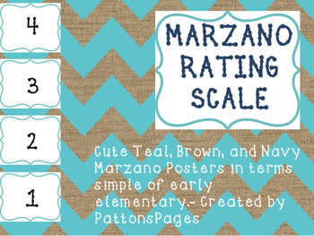 Marzano Kid Friendly Teal and Brown