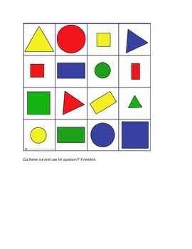 Marzano Kindergarten and 1st Grade Common Core MATH Vocabulary Assessment