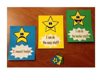 Marzano Learning Scale - Kindergarten Star Theme