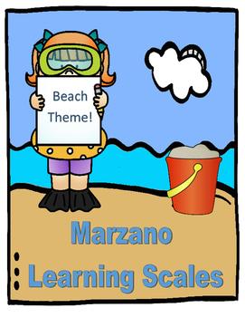Marzano Learning Scale: Summer, Ocean, or Beach Theme