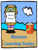 Marzano Learning Scale: Summer, Ocean, or Beach Theme