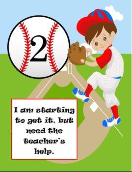 Marzano Learning Scales: Baseball Theme