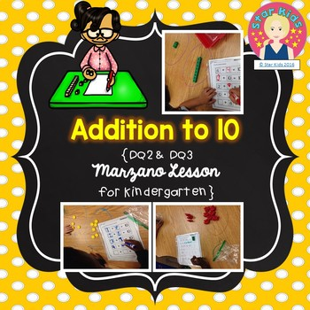 Addition to 10 Lesson for Kindergarten