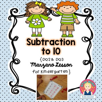 Subtraction to 10 Lesson for Kindergarten