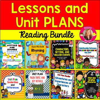 Reading Lessons and Units BUNDLE for Kindergarten