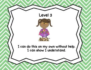 Marzano Levels of Understanding - superheros