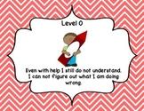 Marzano Levels of Understanding - school days