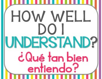 Marzano Levels of Understanding Posters {Bilingual} Brights Theme