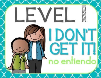 Marzano Levels of Understanding Posters {Bilingual} Cool Blues Theme
